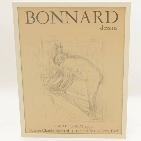 ピエール・ボナール『ボナールデッサン展1972年』ポスター 絵画 クロード・ベルナール