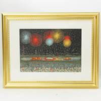 山下清『長岡の花火』300枚限定リトグラフ 絵画 代表作 美品