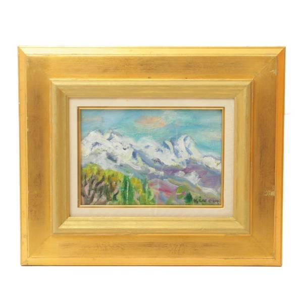 井上 和(かのお)『風景』愛媛県出身の「情熱の画家」の力作。絵画・油絵・骨董品