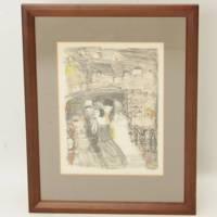 織田広喜『シャンゼリゼ』日仏両方の勲章受章画家の貴重なリトグラフ・絵画