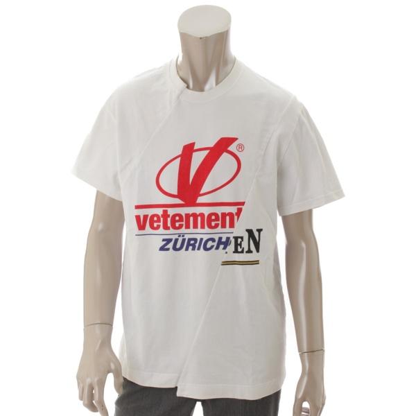 ヴェトモン 18SS Zurichコラボ コットン再構築Tシャツ ホワイト L