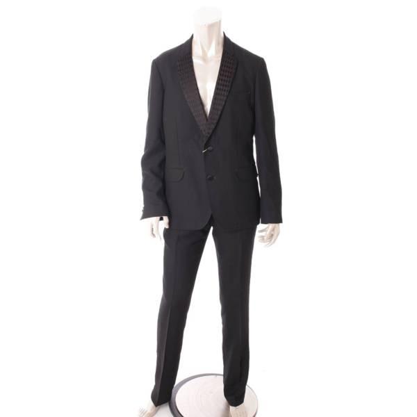 ポールスミス ウール セットアップ スーツ ボトムスセット ブラック ブルー
