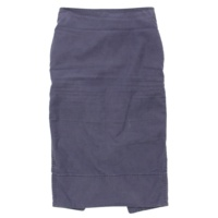 MADISON BLUE マディソンブルー バックサテン タイトスカート ネイビー 1 S
