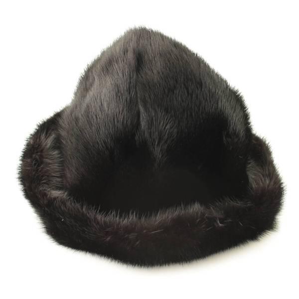 ファー ハット 帽子 ブラック L