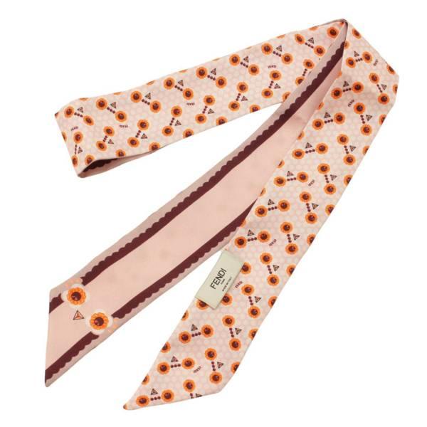 シルク マキシラッピー スカーフ 花柄 バード ツイリー ピンク