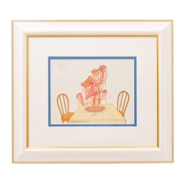 フレッツ・フレレング『ピンクパンサーのピンクスパゲティ』希少なセル画作品 絵画