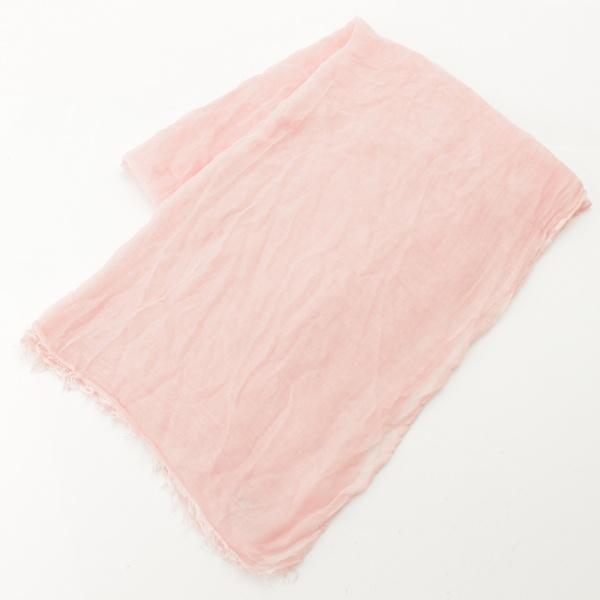 シルク混 ストール ピンク