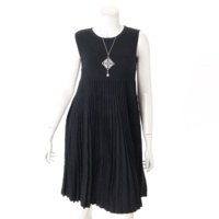 Pleats Knit Dress ワンピース ネックレス 2点セット