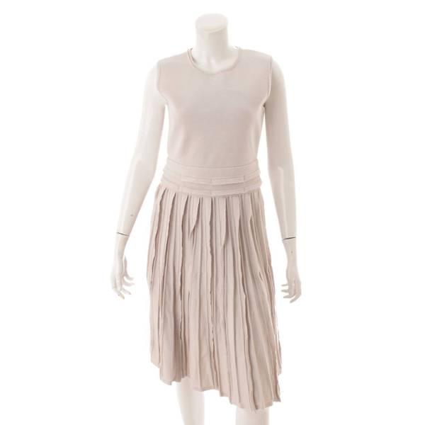 Knit Dress ニット ノースリーブ ワンピース ドレス 40111 グレージュ 40