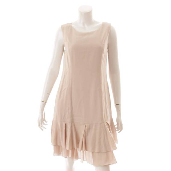 ノースリーブ マリーゴールド ワンピース ドレス 37640 ベージュ 40