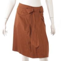 リボン タック フレア スカート 25283 ブラウン 38