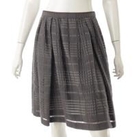 ウール チェック スカート 36317 グレー 40