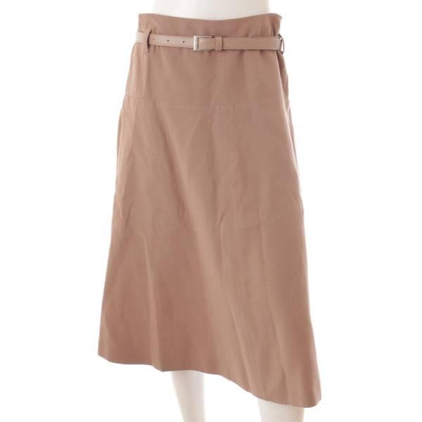 ベルト付 台形スカート トライアングル 39474 ベージュ 40