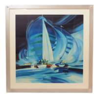 【特別価格】フランソワ・テザルニーの傑作『帆船のレガッタ』限定版画・作家保存版!