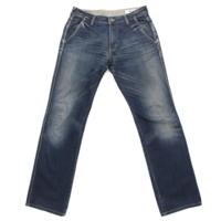 メンズ ダメージジーンズ デニム パンツ ブルー 32