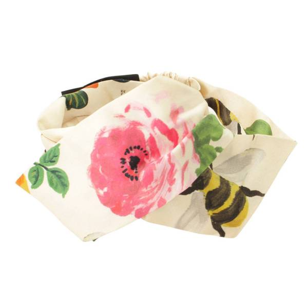 花柄×bee ヘアバンド ヘアバンダナ 435528 アイボリー