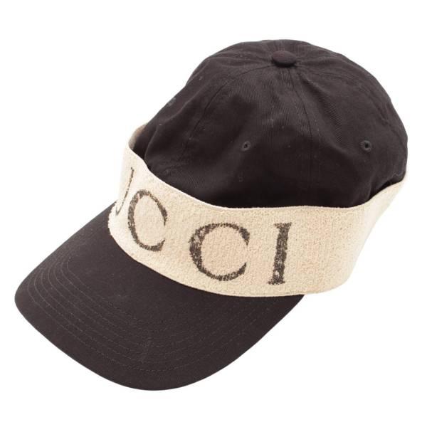 ヘアバンド付き ベースボール キャップ 帽子 ブラック XL 60