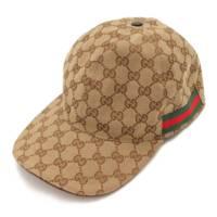GGスプリーム シェリーライン ベースボール キャップ 帽子 200035 ベージュ M