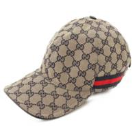 GGキャンバス ベースボールキャップ 帽子 200035 グレー×ネイビー L59
