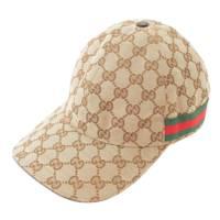 GGキャンバス ベースボールキャップ 帽子 200035 ベージュ S 57cm