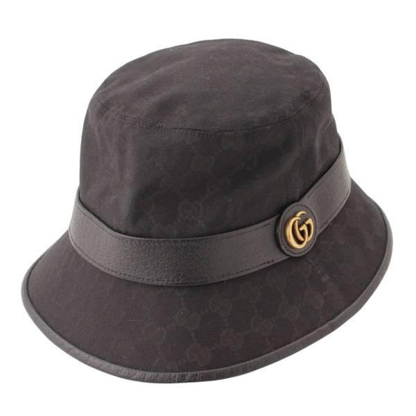 GGキャンバス フェドラハット 帽子 576587 4HG53 ブラック L