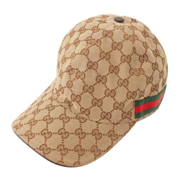 GGキャンバス シェリー ベースボールキャップ 200035 帽子 ベージュ L59