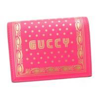 SEGAコラボ GUCCYプリント コンパクトウォレット 折り財布 524965 ピンク