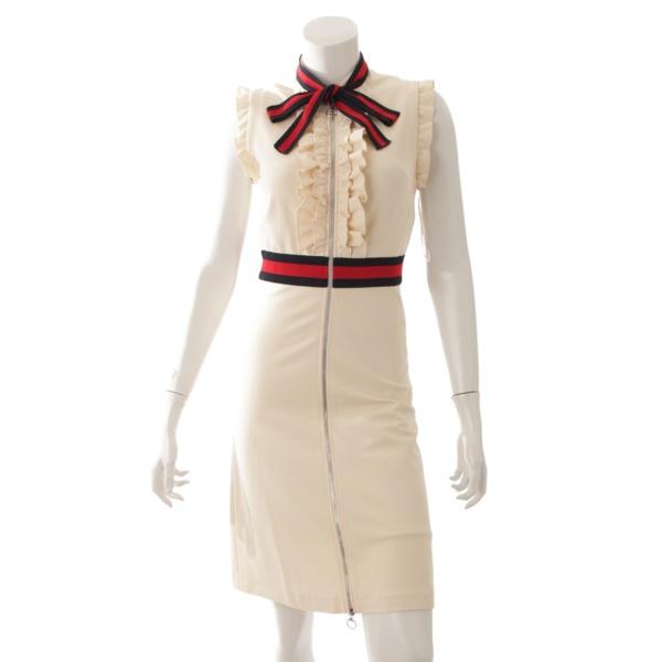 reputable site a4b9e 95c84 グッチ(Gucci) 17AW ウェブトリム ジャージー ドレス ワンピース ...