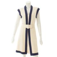 18SS GGベルト付き ジャージー ドレス ワンピース 515533 ホワイト S