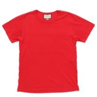 メンズ 2018年 ウォッシュドオーバーサイズ ロゴ プリント Tシャツ レッド S
