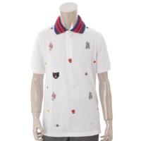 18SS エンブロイダリー ポロシャツ 475118 ホワイト L