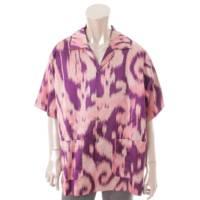 メンズ シャツ ボウリングシャツ 597908 パープル ピンク