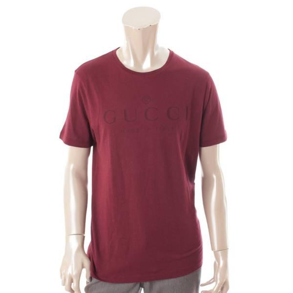 20SS ロゴ Tシャツ トップス 441685 ボルドー M