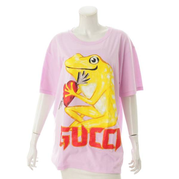 オーバーサイズ フロッグ プリント Tシャツ 492347 ピンク L