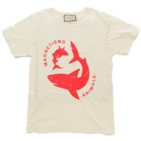 18SS シャーク Tシャツ 493117 アイボリー レッド XS