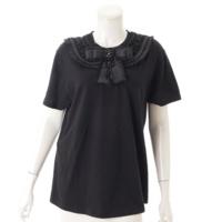 ブローチ付き 半袖 Tシャツ カットソー 460646 ブラック L