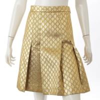 GGルレックス ラメ プリーツ スカート 498070 ゴールド 38