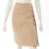 ライオンボタン ウール スカート 482226 ベージュ 36
