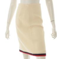 2017年 ウェブ ウール スカート 498063 アイボリー 38