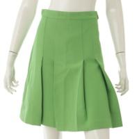 シルク混 プリーツスカート 498070 グリーン 38