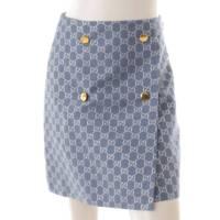 GGルレックス ラメ ウール スカート 623177 ブルー 36