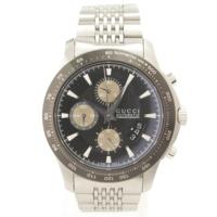 Gタイムレス クロノグラフ 自動巻き 腕時計 YA126214 シルバー×ブラック