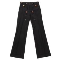 紐ベルト付き パンツ ブラック 36