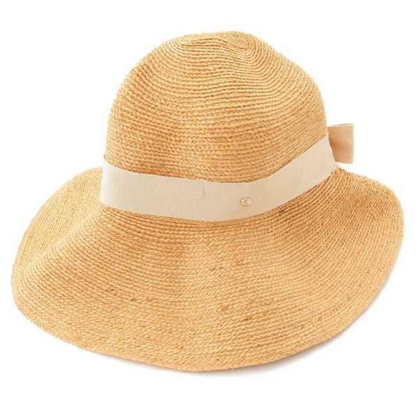 ラフィア ハット 麦わら帽子 ベージュ