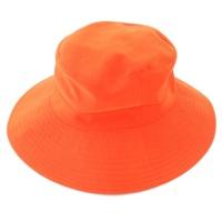 H刺繍 ハット 帽子 オレンジ 56
