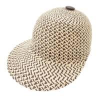 21SS タンザニア ストローキャップ 麦わら帽子 ナチュラル ブラック 56