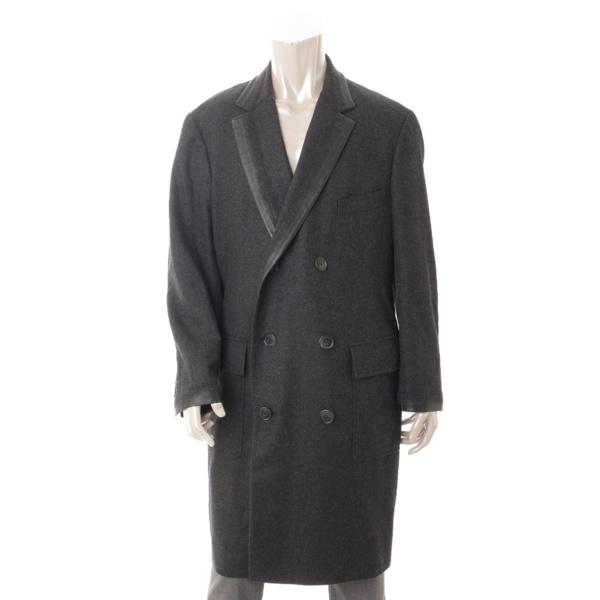 ウール ロングコート グレー 52