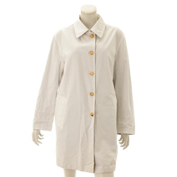 コットン リバーシブル コート ベージュ×ホワイト 38