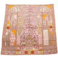 カレ140 シルクスカーフ TAPIS PERSANT ペルシャ絨毯 ピンク