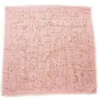カレ140 カシミヤ シルクスカーフ Panoplie Equestre 乗馬の装具一式 ピンク
